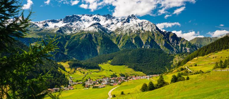 Austrian Mountain Landscape