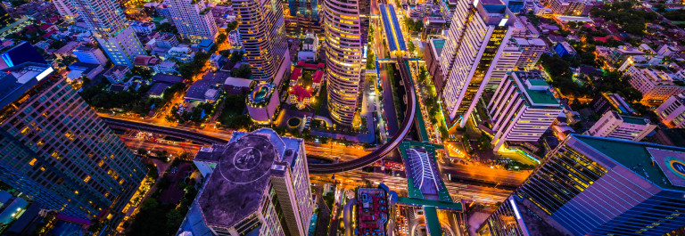 Panoramic view of urban landscape in Bangkok Thailand iStock_000070802727_Large-2