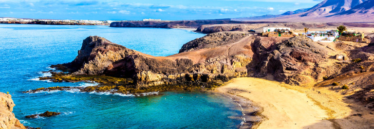 Playa de Papagayo (Parrot's beach) on Lanzarote, Canary islands,