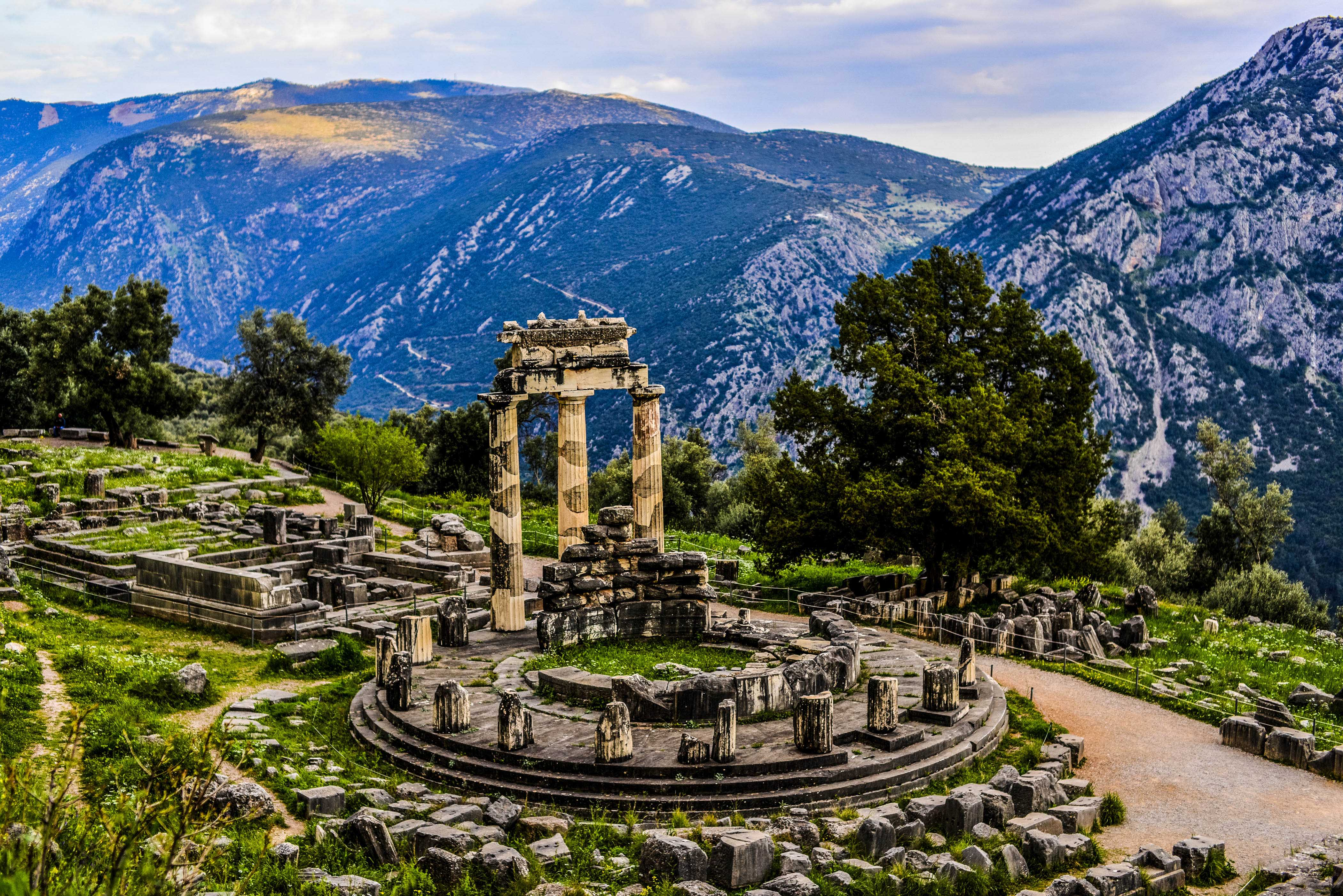 Delphi Griechenland Festland Tempel
