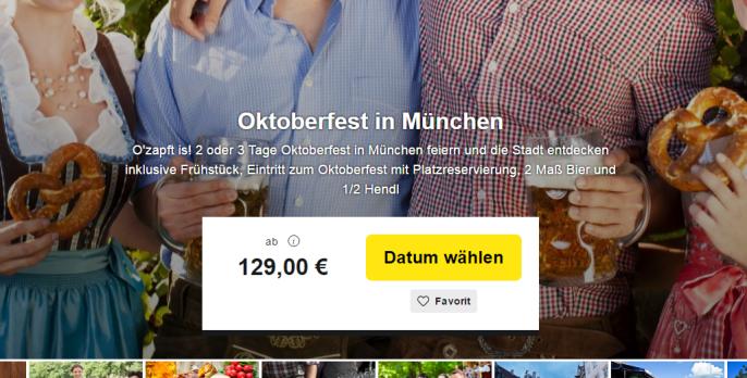 Oktoberfest München Angebote