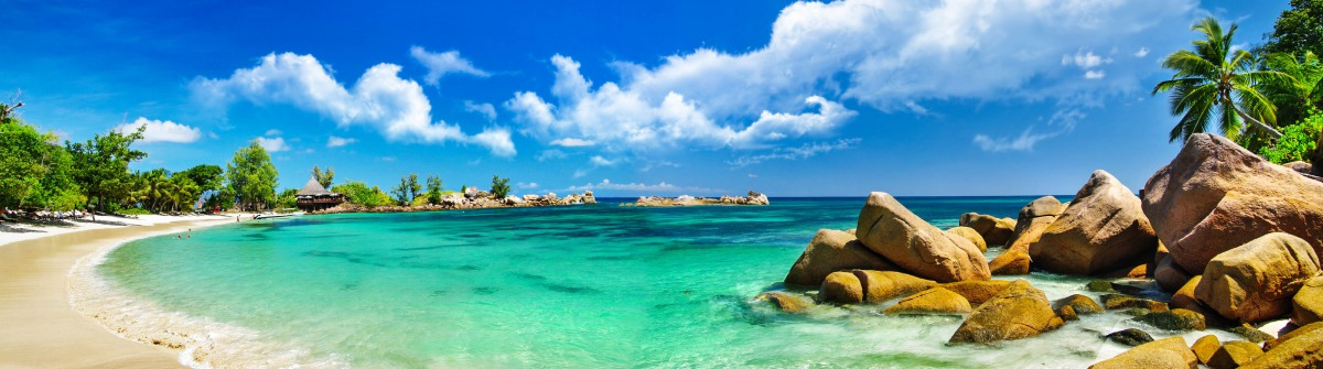Seychelles tropical beach panorama iStock_000025927738_Large-2