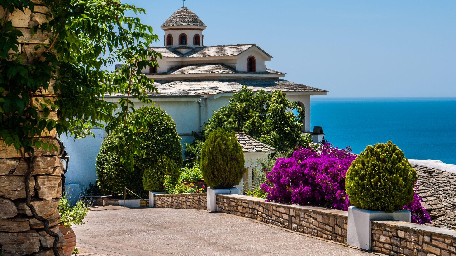 Ein Kloster auf der griechischen Insel Thassos