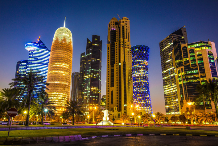 Skyline of Doha