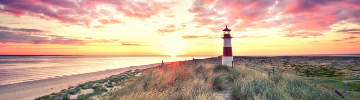 sunrise at Lighthouse List East on Sylt shutterstock_280657556-2