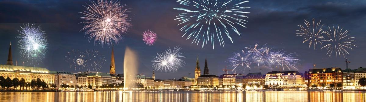 Silvester in Hamburg, Feuerwerk