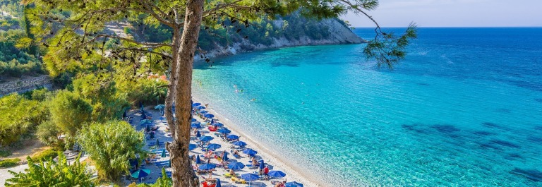 Lemonakia Beach in Samos Island, Greece shutterstock_611073635