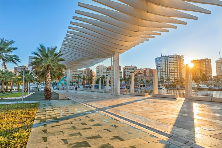 Malaga Hafen Andalusien