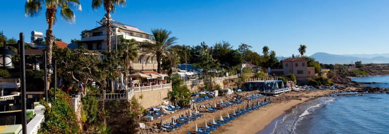 Beautiful beach in the center of Side, Turkey_shutterstock_165165818