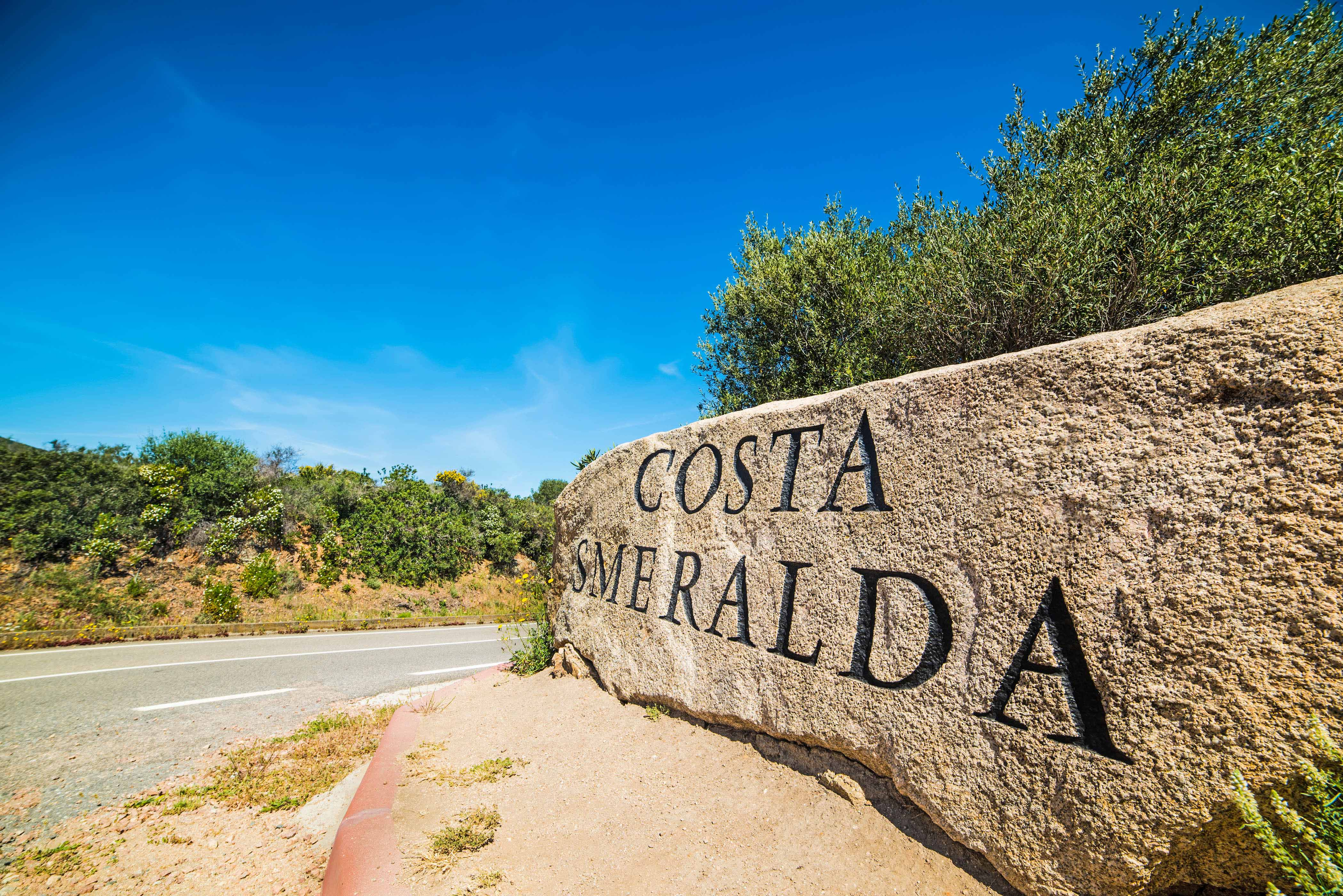 world famous Costa Smeralda sign