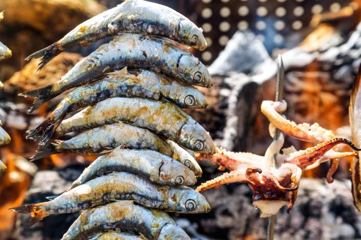 Malaga Andalusien Sardinenspieße