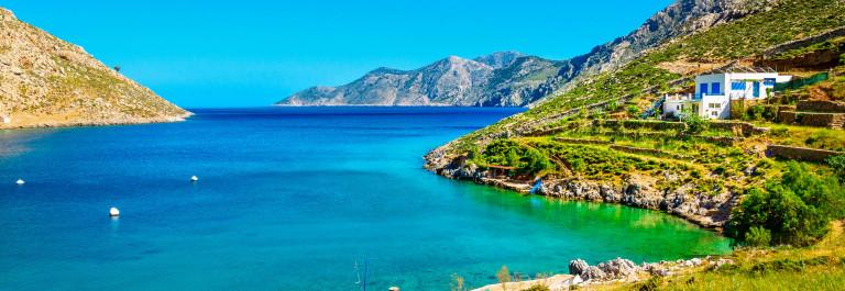 Amazing sea bay on Greek Island