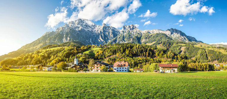 Mountain village in Austria, Leogang shutterstock_159276230-2