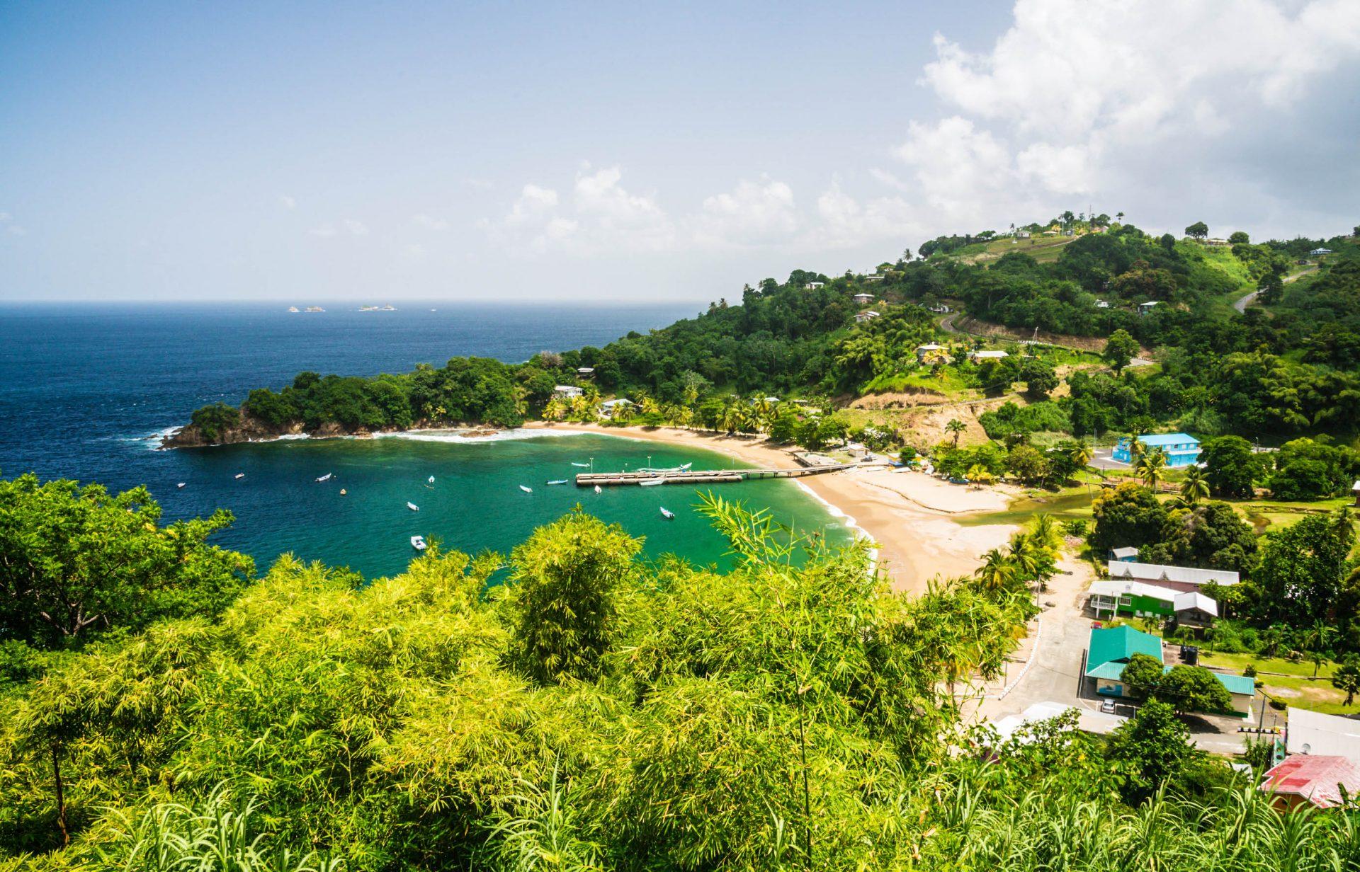Eine Bucht in der Karibik