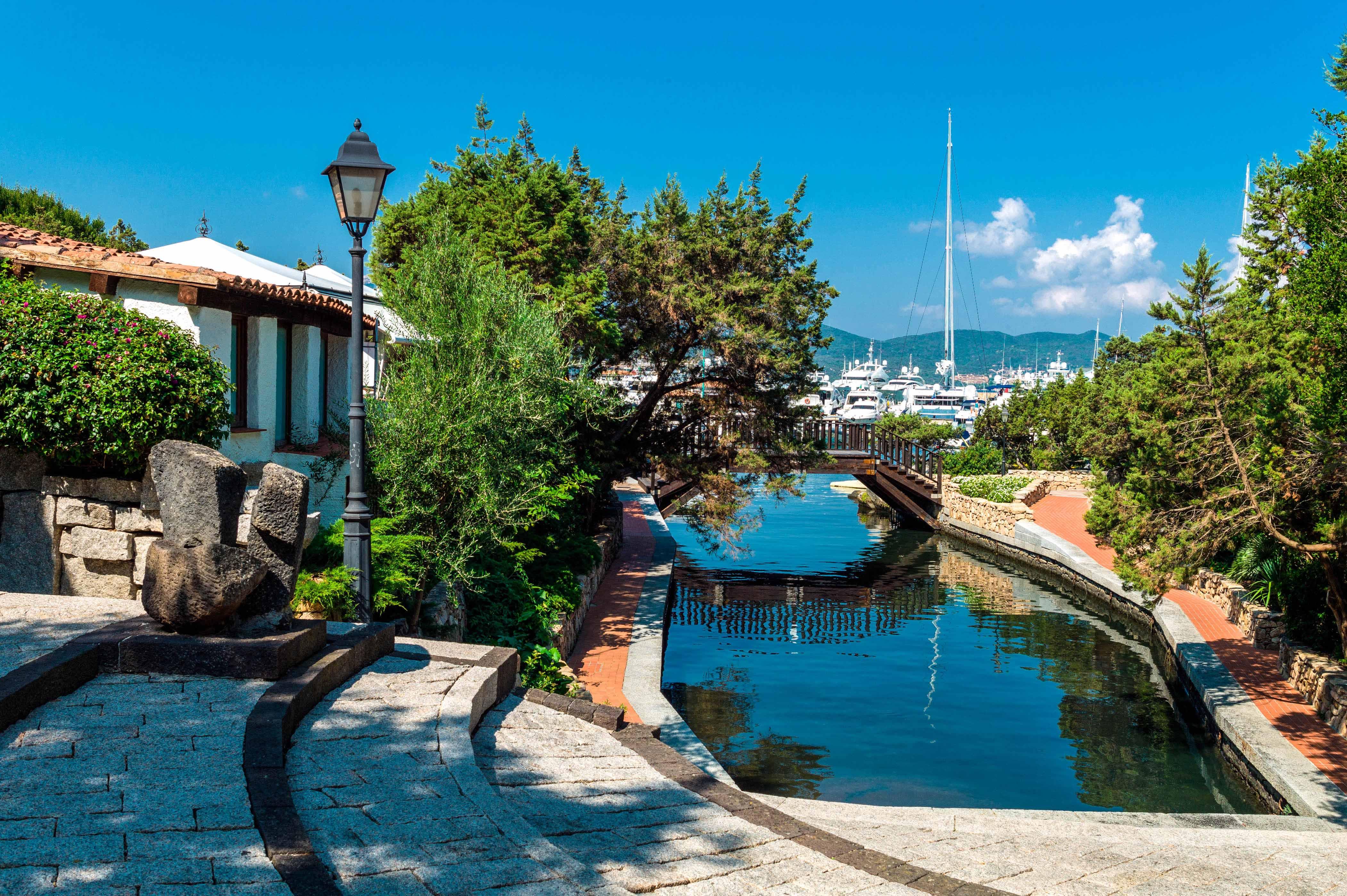 """""""Italy, Sardinia,Porto Rotondo, the Marina dock"""""""