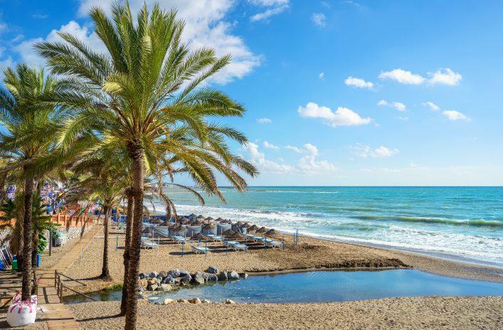 Malaga Strand Spanien