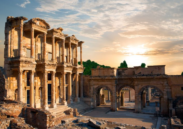 Weltwunder Celsus Bibliothek Ruinen