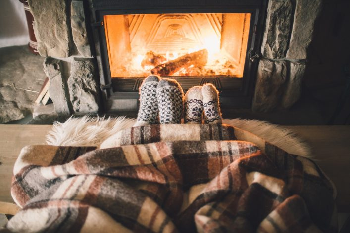 Fireplace Kamin Winter shutterstock_348562265