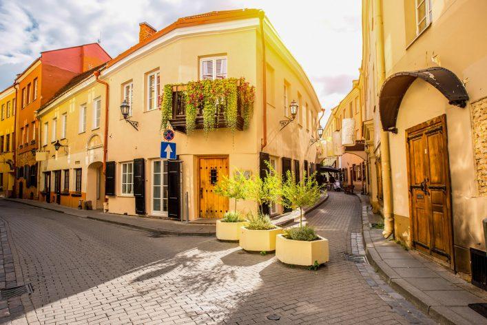 Street view in Vilnius
