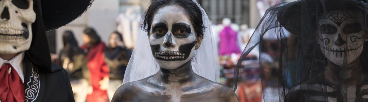 Day of the Dead costumes in Oaxaca, Mexico