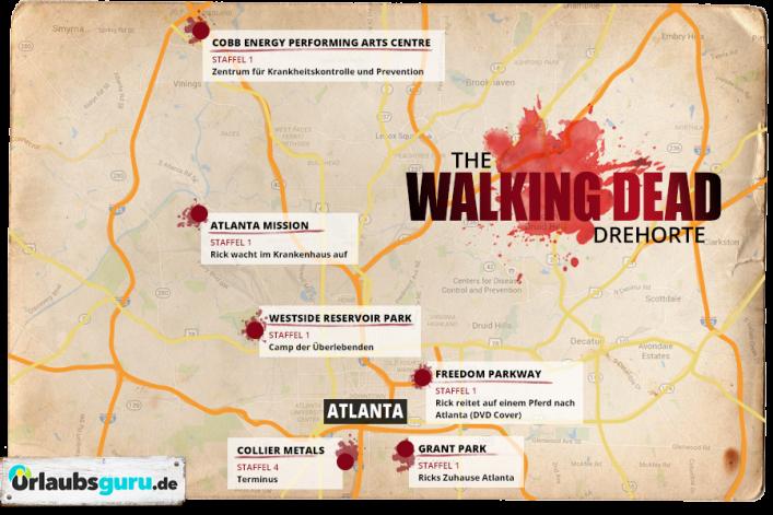 The Walking Dead Drehorte, Atlanta, TwD