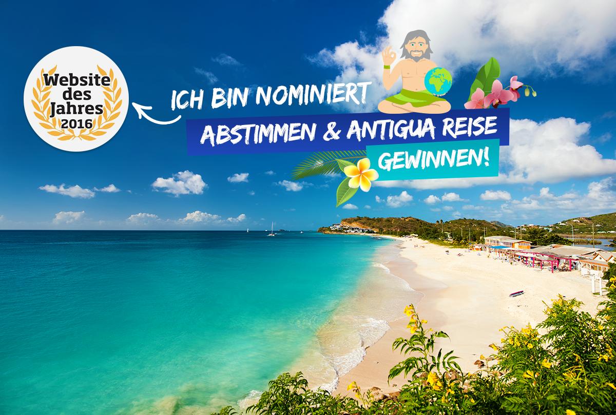Antigua Gewinnspiel Website des Jahres