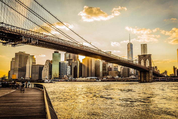 Brooklyn Bridge and Manhattan at sunset iStock_000048081118_Large-2
