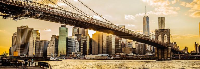 Brooklyn Bridge and Manhattan at sunset iStock_000048081118_Large-2