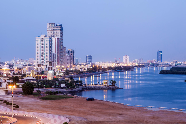 Corniche in Ras al Khaimah, UAE