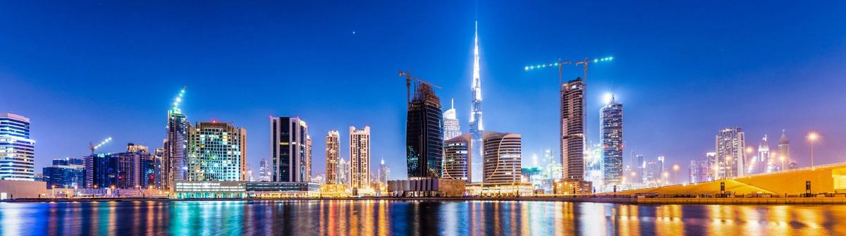 Dubai BusinessBay at night