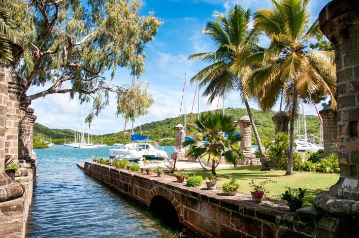 Nelson's Dockyard near Falmouth, Antigua, Caribbean shutterstock_168550127-2