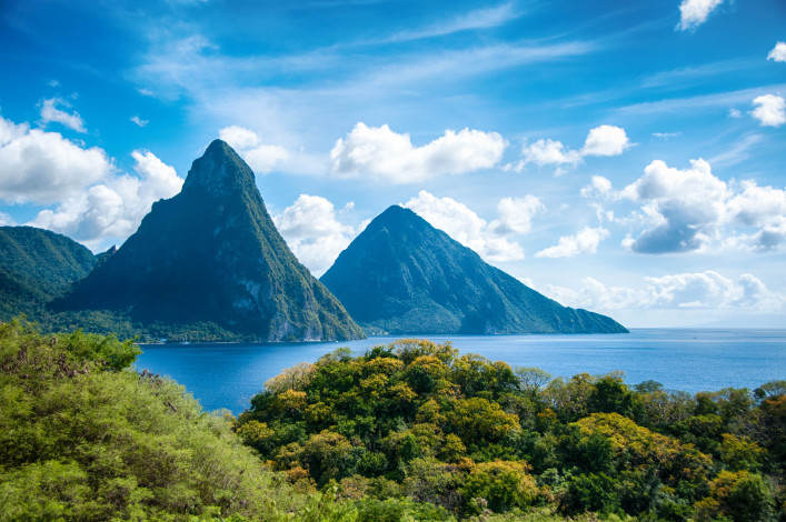 St. Lucia Vulkane Pitons