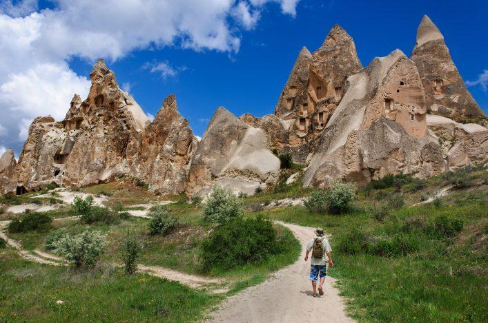 Kappadokien, Nationalpark Göreme, Türkei, Höhlen, Wandern