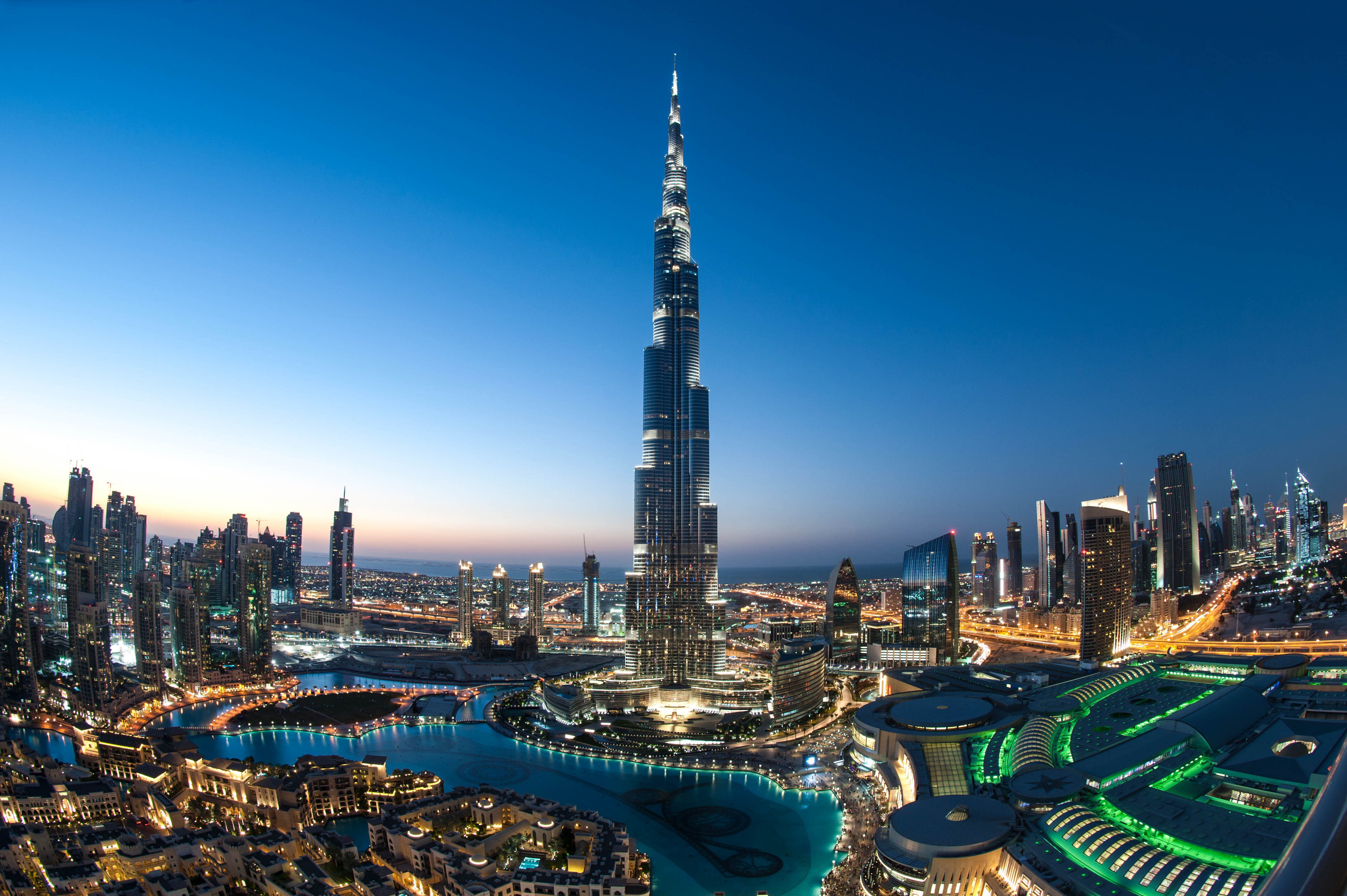 burj khalifa grandiose aussicht ber dubai urlaubsguru. Black Bedroom Furniture Sets. Home Design Ideas