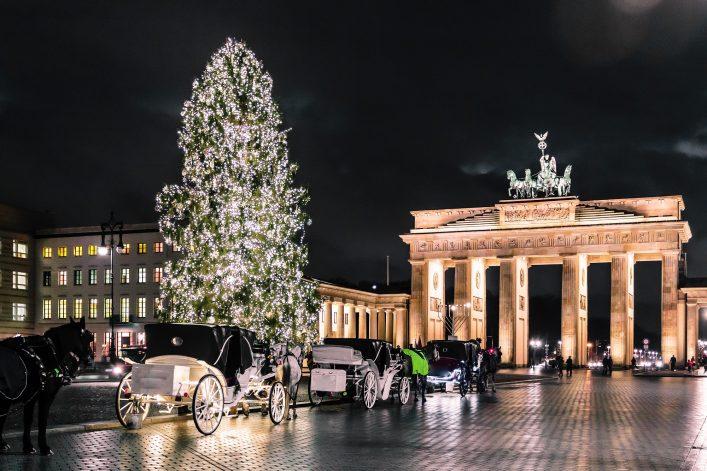 Weihnachtsshopping in Berlin Kutsche