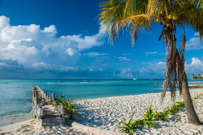 Isla Mujeres beach in Cancun, Mexico
