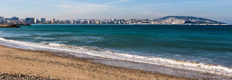 Atlantic Ocean coastal landscape,Tanger city, Morocco