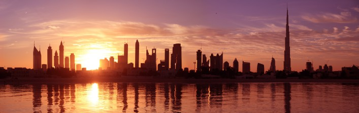 Dubai Skyline_sunrise_shutterstock_65442859