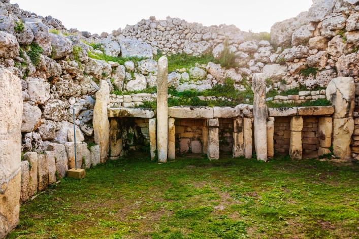 Neolithic megalith temple complex of Ggantija. Malta.