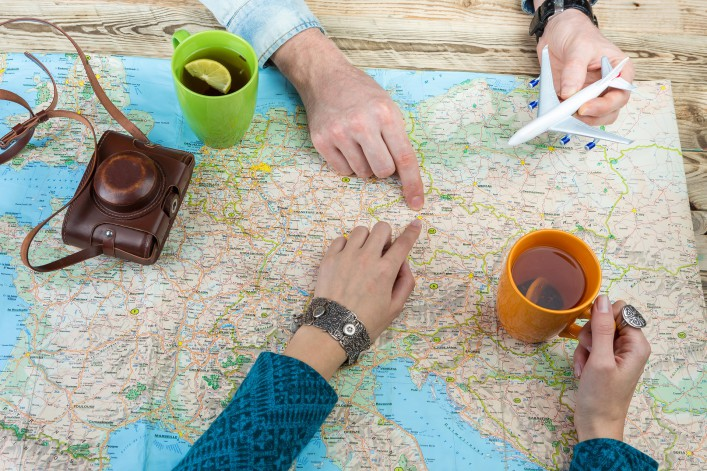 Planning trip world map shutterstock_354214022