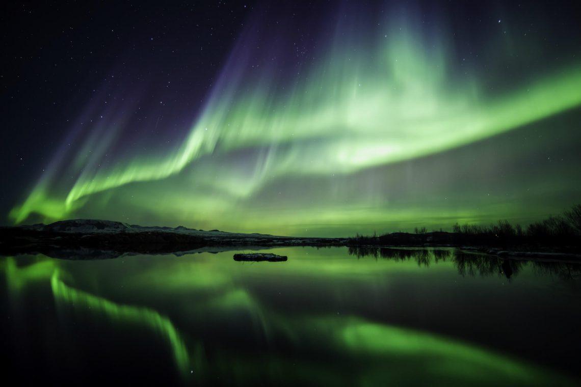 beste reisezeit Island für Nordlichter
