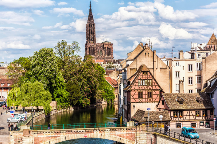 Covered Bridges (Ponts Couverts ) in Strasbourg, France