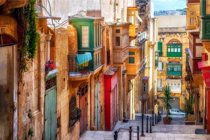 Valletta colorful street Malta_shutterstock_256853281