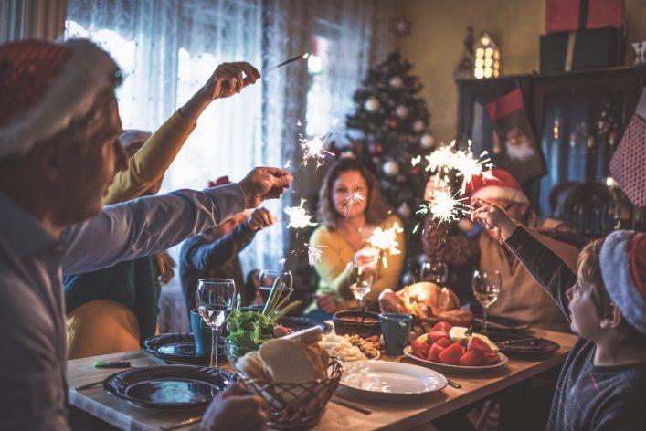 Weihnachten weltweit Festmahl