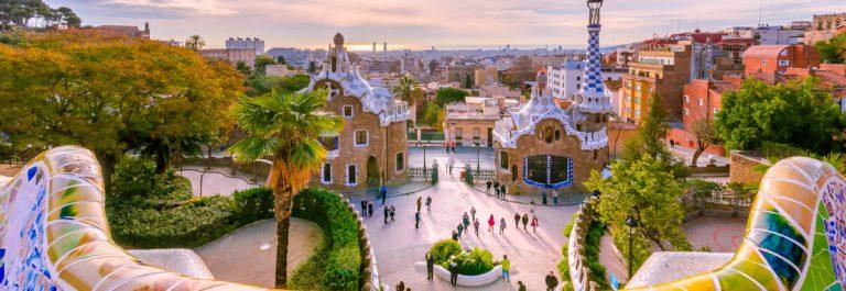 Barcelona Parc Guell View_shutterstock_407568172