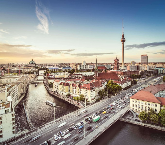 Berlin, Germany viewed from above the Spree River_shutterstock_172674986_klein