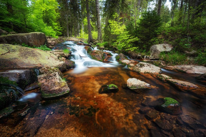 Lower Bodefälle in Braunlage in the Harz mountains shutterstock_497087359_klein