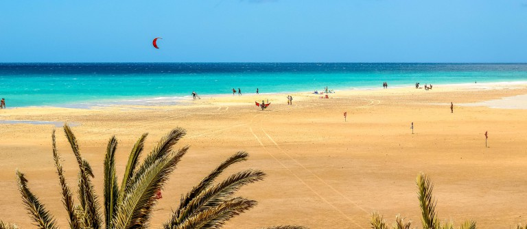 Sotavento beach in Fuerteventura, Canary Islands