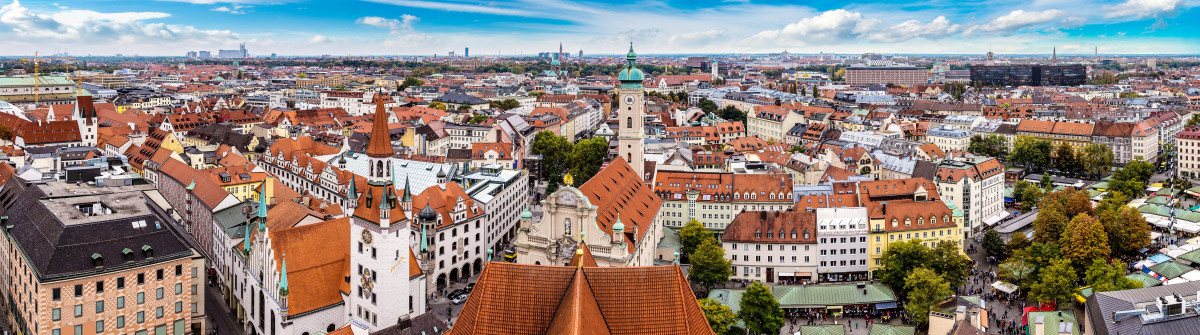 Aerial view of Munich in a summer day in Germany shutterstock_348837215-2