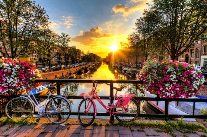 Amsterdam summer sunrise iStock_000048084840_Large-2